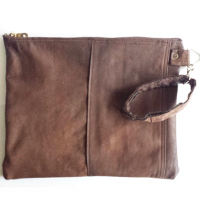 leren clutch heren