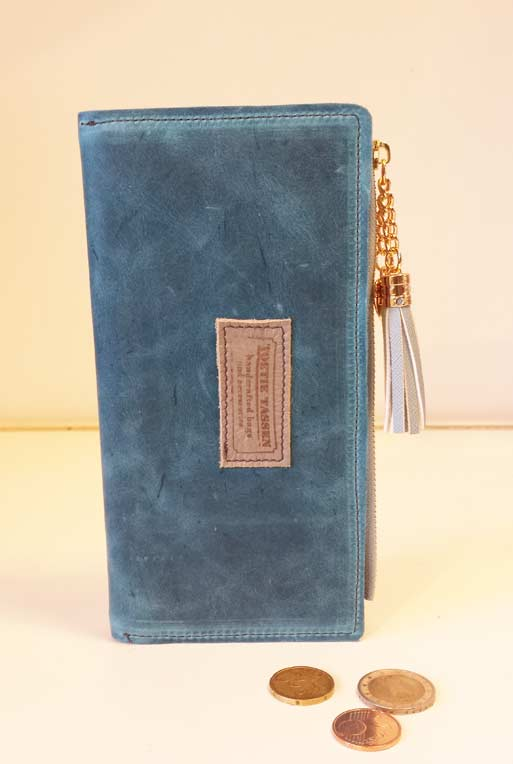 a3860d9c288 Portemonnee Leer – Turquoise – TOETIE Tassen